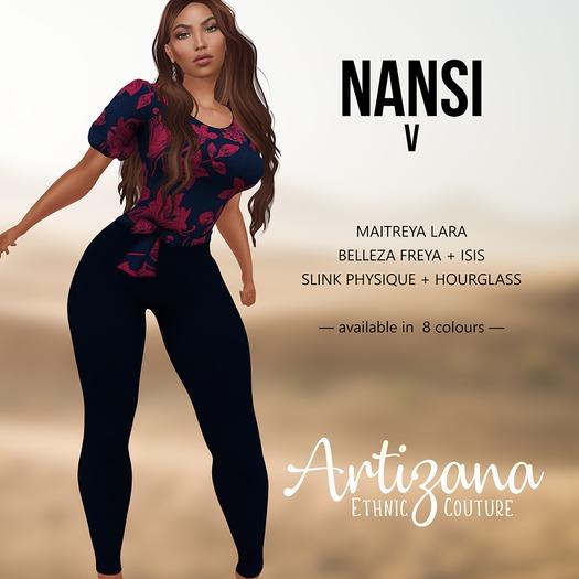 Artizana - Nansi V - Blouse + Leggings