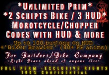 NekroLogiK N*Motion 2 Script Chopper Bike System FULL PERM for Motorcycle Builder Bike Creator Exclusive Rights