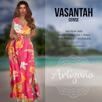 Artizana - Vasantah (Cerise) - Sundress