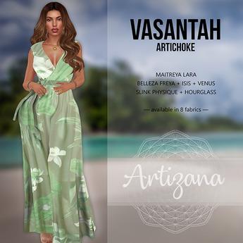 Artizana - Vasantah (Artichoke) - Sundress