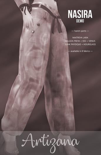 Artizana - Nasira Collection - Harem Pants [DEMO]