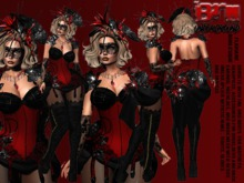 **FLAVIANE BURLESQUE STYLE COMPLET OUTFIT** MAITREYA ONLY (WEAR