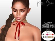 .KIMBRA. - Kitten chain Choker with bow