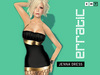erratic / jenna - short lycra dress / black-gold
