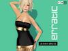 erratic / jenna - short lycra dress / black-gold