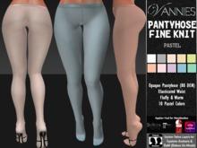 [VANNIES] Pantyhose Fine Knit Pastel Fall Winter (Applier HUD + BoM) (Belleza, Maitreya, Slink, Omega + Classic Avatar)