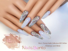 Ricci - Pointy Nails Collection 001 White