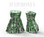 *** Harmonia Green Flowers Mary Dress - Maitreya