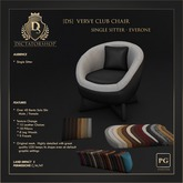 [Ds] Verve Club Chair - Single Sitter PG