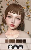 ::C'est la vie !:: Luella Hair [Brown] / 6 Hair colors Change / 3 Style / Tint Option HUD