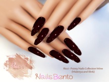 Ricci - Pointy Nails Collection Wine