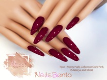 Ricci - Pointy Nails Collection Dark Pink