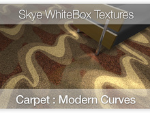 Modern Carpet : Curves - 100 Skye WhiteBox Full Perms Textures