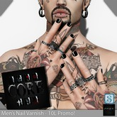 ::: Core ::: Men's Nail Varnish - Goth [Promo!]
