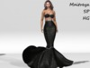 ~PP~ Onyx Sequined Mermaid Skirt Set
