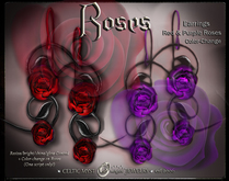 ❀ Roses Earrings - Red and Purple Rose Color-Change