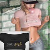 ChicModa // Sadystika Crop Top // BLACK BABYGIRL