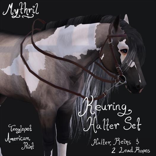 ~Mythril~ Keuring Halter Set (Teeglepet: American Paint)