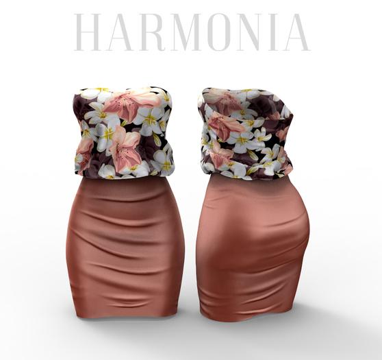 *** Harmonia Beige Flowers Nadia Dress - Maitreya