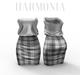 *** Harmonia Grey Tartan Nadia Dress - Maitreya