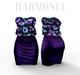 *** Harmonia Purple Flowers Nadia Dress - Maitreya