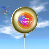Balão - Sinto muito - Cidade Balões Xntra