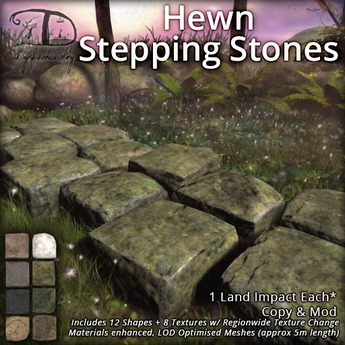 [DDD] Hewn Stepping Stones - 8 Textures, 12 Shapes!