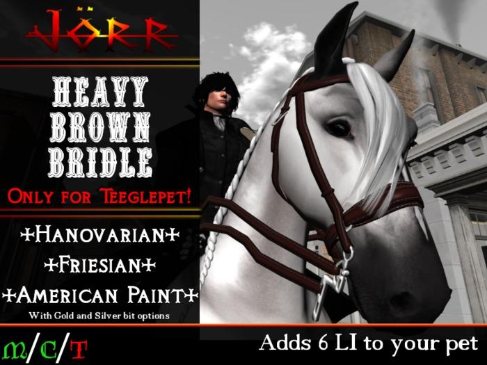 [Jörr] Teeglepet Heavy Brown Bridles HAN/PNT/FRN