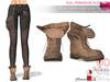 Full Perm Brown Suede Large Loose Flapped Untied Lace Neck Combat Boot Slink Maitreya Belleza Tonic
