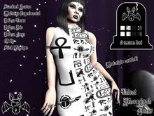 [Strange One.] - Velvet Occult Hieroglyph Dress