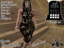 [Strange One.] - Metallic Occult Hieroglyph Dress
