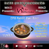 WIKO presents DFS Rabbit Stew Bowl * A YUMMY  Rabbit meal *  25 EP * 2 PRIMS ONLY * Can eat, use for cooking, deco ...
