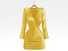 Salvadori - Yellow 'Helena' Satin Suit Blazer