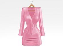 Salvadori - Pink 'Helena' Satin Suit Blazer