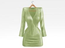 Salvadori - Peridot 'Helena' Satin Suit Blazer