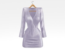 Salvadori - Lavender 'Helena' Satin Suit Blazer