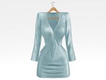 Salvadori - Blue 'Helena' Satin Suit Blazer