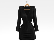 Salvadori - Black 'Helena' Satin Suit Blazer