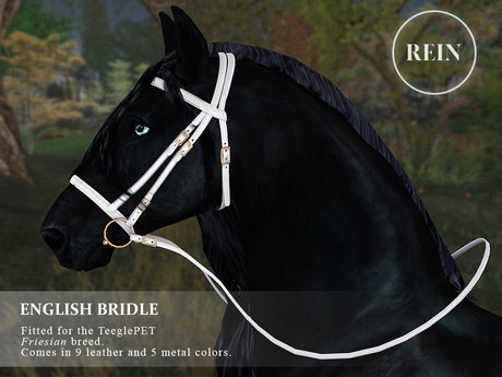REIN - TeeglePet English Bridle FRIESIAN