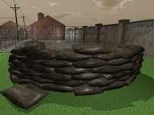 Military Barricade Curve - Mesh - Low Prim