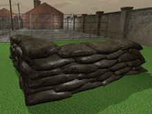 Military Barricade Corner - Mesh - Low Prim