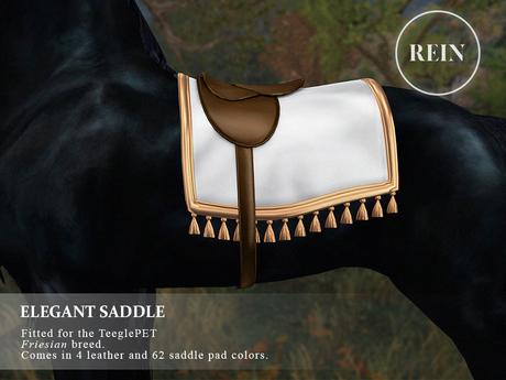 REIN - TeeglePet Elegant Saddle FRIESIAN