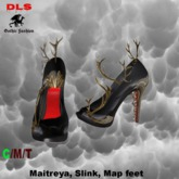 Fantasy heels black red gold