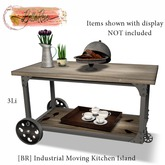 [BR] Industrial Moving Kitchen Island