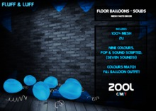 F&L Balloon Decor - Floor Balloons - Solids