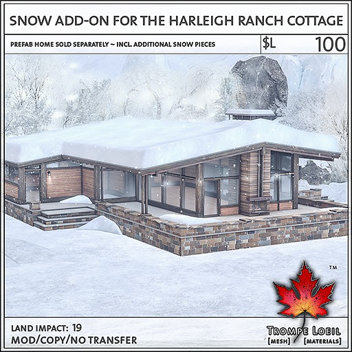 Trompe Loeil - Snow Add-On for Harleigh Ranch Cottage [mesh]