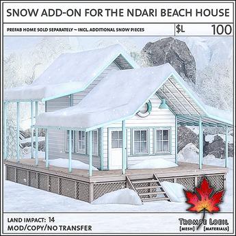 Trompe Loeil - Snow Add-On for the Ndari Beach House [mesh]