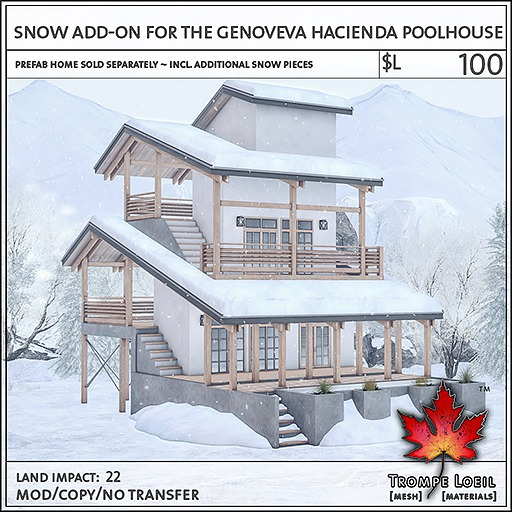 Trompe Loeil - Snow Add-On for the Genoveva Poolhouse [mesh]