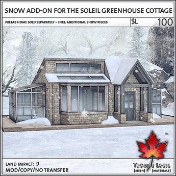 Trompe Loeil - Snow Add-On for the Soleil Greenhouse [mesh]