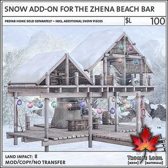 Trompe Loeil - Snow Add-On for the Zhena Beach Bar [mesh]